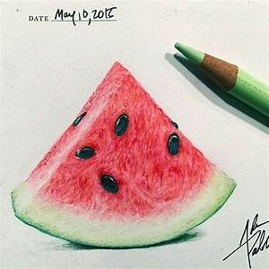 Wonderful watermelon drawing by @adampadilla follow him ...