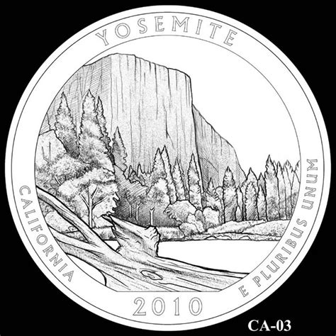 Yosemite National Park Quarter California America