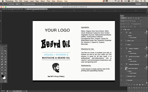 product label templates beard label id26 aiwsolutions