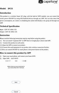 Capstone Ipco Smart Switch User Manual Model Mw3r15gs
