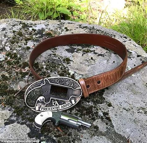 belt jr trump buckle donald gun called ever he don pistol caption mail 2a sported functioning coolest saturday middle featured