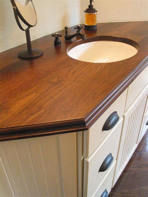 custom solid wood face grain walnut counter top  dark