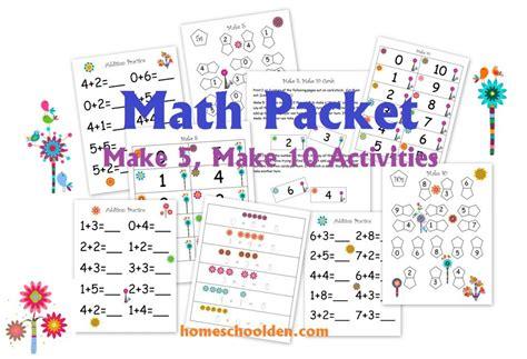 Prekk Math Activities (make 5, Make 10)  Homeschool Den