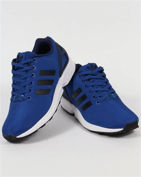 Original Blue Black adidas zx flux trainers royal blue black originals shoes