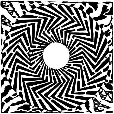 trippy optical illusion swirly maze drawing  yonatan