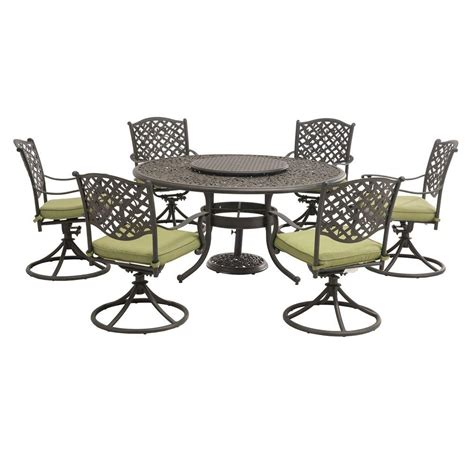sunjoy vining 9 patio dining set with green cushions