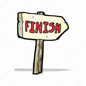cartoon finish sign — Stock Vector © lineartestpilot #56333949