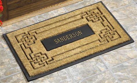 Coir Doormat Personalized by Personalized Rubber Backed Coir Doormats Door Mats