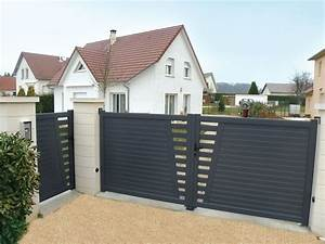 Portail En Aluminium : derval ensemble portillon et portail coulissant en ~ Melissatoandfro.com Idées de Décoration