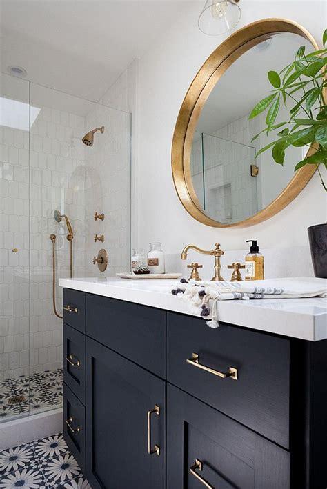 Brass Bathroom Mirror by Image Result For Interior Navy Blue White Brass