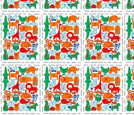 what is the best material for a kitchen sink animal alphabet fabric floramoon designs spoonflower 9964