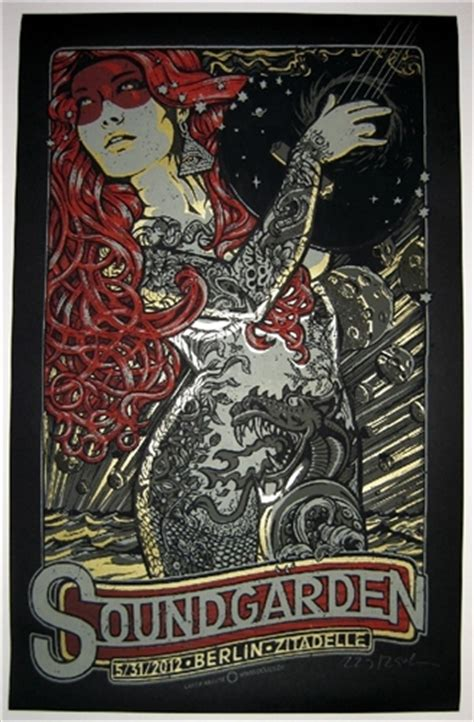 Soundgarden King Animal Wallpaper - soundgarden concert poster by lars p krause