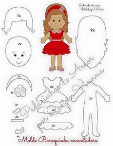493 best makefelt dolls images on pinterest felt With felt dress up doll template