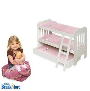 doll bunk bed trundle american girl dolls