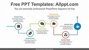 Line Flow Arrow Powerpoint Diagram Template