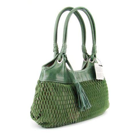 italian handbags designers list lazetti italian made green blue perforated leather