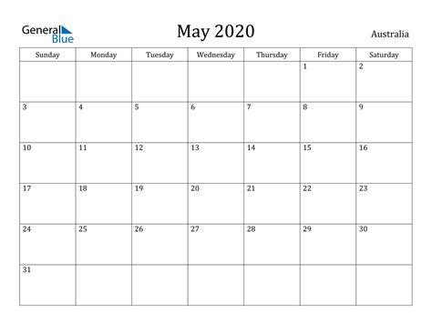 calendar australia