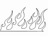 Fire Flames Template Printable
