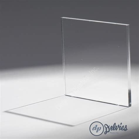 crystal clear cell cast plexiglass sheet  delvies plastics
