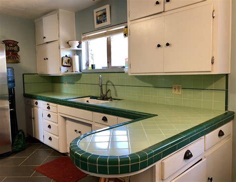 Kitchen Tile Countertops by Kitchen Tile Countertop Refresh Door Blue House
