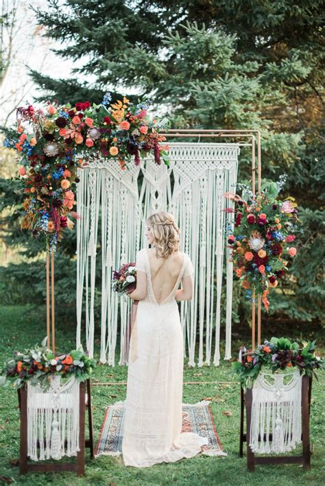 Vibrant Bohemian Wedding Inspo For Fall With Images