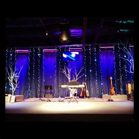 Church Stage Backdrop by This One I Did At Coast Vineyard Church Stage Holidays