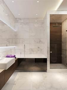 beaucoup d39idees en photos pour la salle de bain en marbre With salle de bain design avec evier en marbre