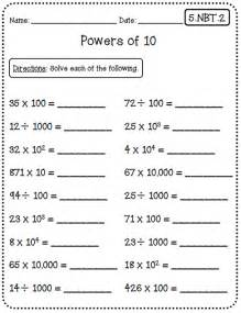 Common Core 5th Grade Math Worksheets