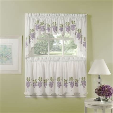 Grape Decor Kitchen Curtains by Kitchen Curtain Grapes Decorate The House With Beautiful