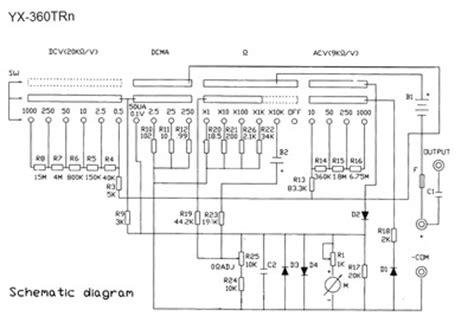 multimetro ft360tr yx 360trn service manual repair schematics