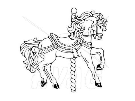 pin  monica lewis  quilt ideas carousel horses silhouette clip art carousel