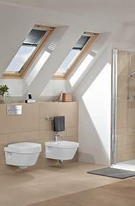Badezimmer Gestalten Dachschräge : badkamer met schuin dakgedeelte ruimte slim benutten villeroy boch ~ Markanthonyermac.com Haus und Dekorationen