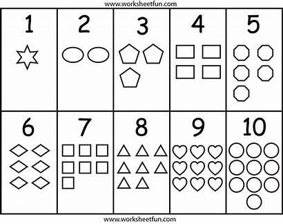 Numbers Shapes Worksheets Worksheet Printable Preschool Worksheetfun