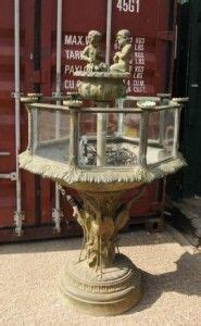 victorian cast iron fish tank steampunk furniture fish