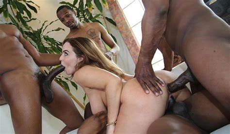 An Incredible Interracial Gang Taking Scene