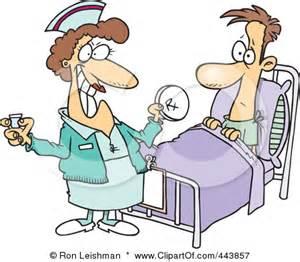 Cartoon Nurse Giving Medication Clip Art