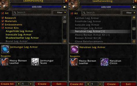 Jormungar And Nerubian Leg Armor