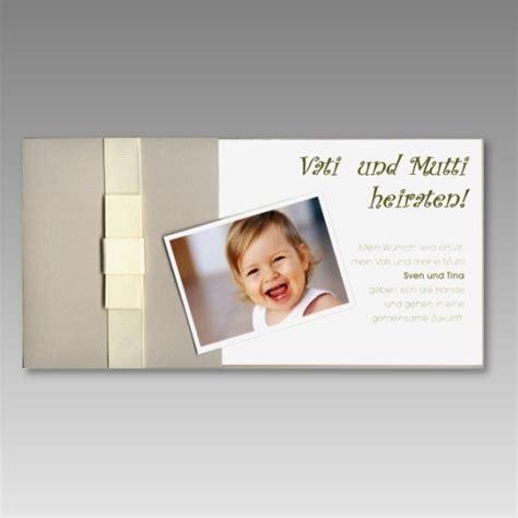 einladungskarte zur hochzeit mit foto ihres kindes