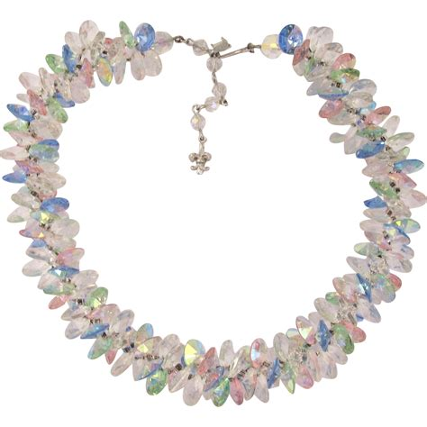 Vendome Rivoli Crystal Necklace in Pastels from