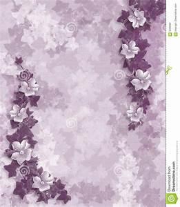 wedding invitation purple floral template stock With wedding invitation background images purple