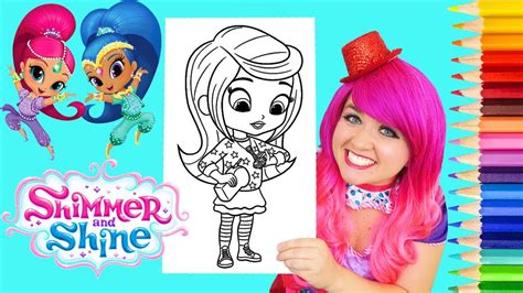 Coloring Kimmi by Coloring Shimmer And Shine Coloring Book Page