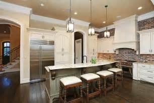brick backsplash kitchen brick backsplash in the kitchen presented with soft colors combination home design decor