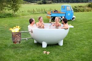 Contemporary Mobile And Wood Burning Hot Tub DigsDigs