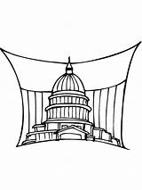 Coloring Capitol Building Pages Mycoloring Printable sketch template