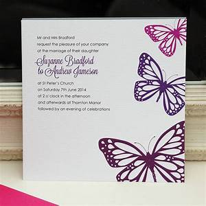 butterfly wedding invitation With blue butterfly wedding invitations templates