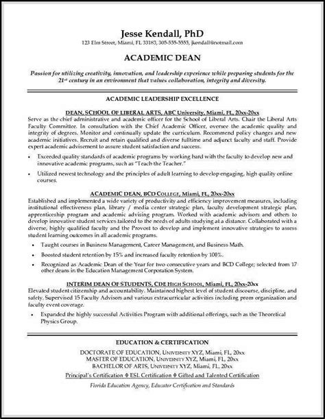 academic resume sle shows you how to make academic resume outstandingly so the resume will