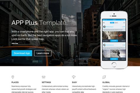 App Download Html5 Template by App Plus Free App Game Landing Html5 Template