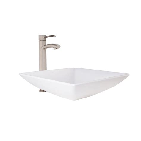 vessel sink faucets home depot polaris sinks vessel sink in white onyx p658 the