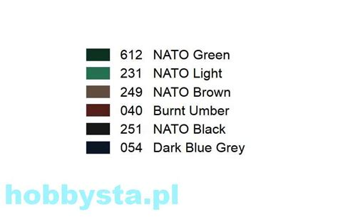 nato armour colors afv painting system 6 pcs vallejo