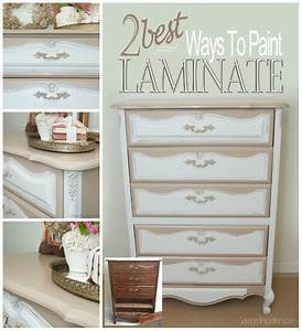 2 best ways to paint laminate furniture salvaged With best brand of paint for kitchen cabinets with thank you for coming stickers